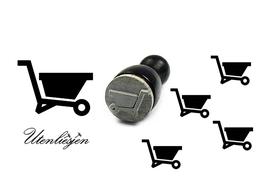 Schubkarre- mini Stempel