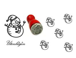 Schneemann mit Schal  - mini Stempel