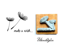 Motivstempel - make a wish mit Pusteblumen