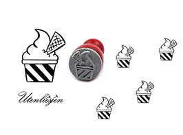 Stempel Eisbecher - mini Stempel