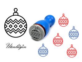 Christbaumkugel Norwegermuster - mini Stempel