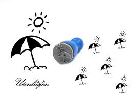 Sonnenschirm - mini Stempel