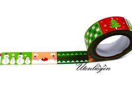 Washi Tape - Weihnachtsmann, Tanne, Schneemänner
