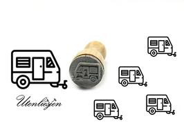Wohnwagen, Camper - mini Stempel