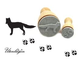 Fuchs und Fußspuren - Stempelset