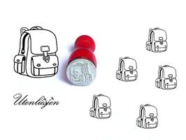 Stempel Rucksack, Schulranzen - mini Stempel