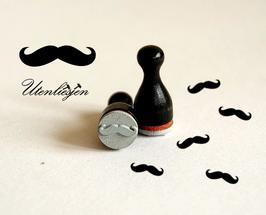 Mustache, Holzstempel mini