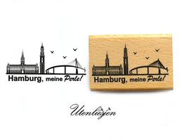 Motivstempel - Hamburg meine Perle!