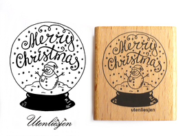Schneekugel Merry Christmas - Motivstempel