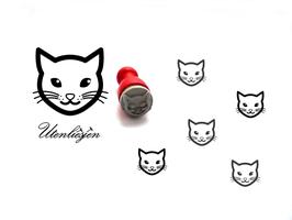 Katze Kopf - mini Stempel