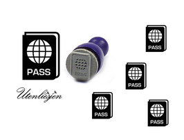 Pass, Personalausweis - mini Stempel
