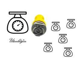 Küchenwaage, Waage - mini Stempel