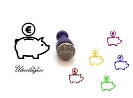 Sparschwein - mini Stempel