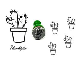 Stempel Kaktus - mini Stempel