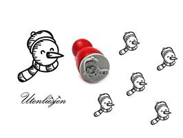 Schneemannkopf - mini Stempel