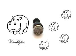 Nilpferd - mini Stempel