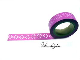 Washi Tape - Gänseblümchen auf pink