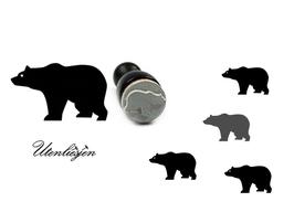 Bär, Eisbär, Grizzly - mini Stempel