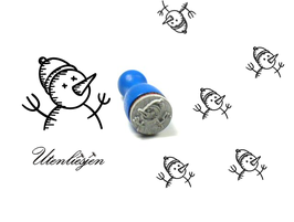 Schneemannoberkörper - mini Stempel