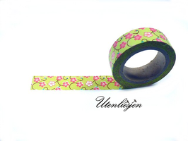 Washi Tape - Blüten auf flieder oder grün