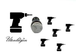 Bohrmaschine, Akkubohrer - mini Stempel