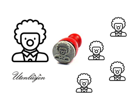 Clown - mini Stempel