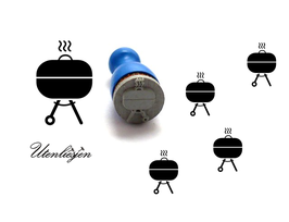 Grill, Kugelgrill - mini Stempel