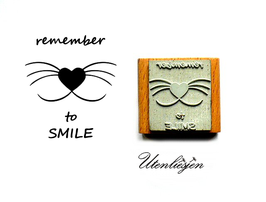 Remember to smile -  Motivstempel