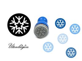Eiskristall rund - mini Stempel
