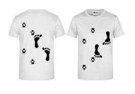 T-Shirt mit Hundetatzen & Menschenfüße