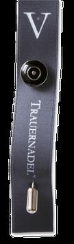 TRAUERNADEL° basic schwarz/silber