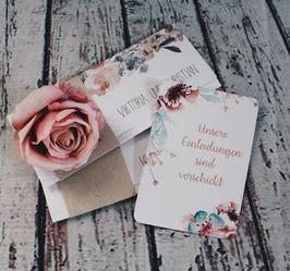 Meilensteinkarten für die Hochzeitsplanung