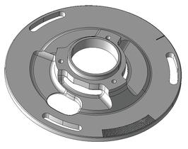 Overrev base plate VESPA - Largeframe PX