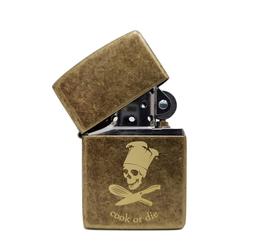 Zippo antique brass