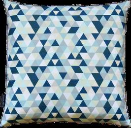 Kissenhülle Triangle blautürkis 40x40cm