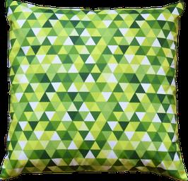 Kissenhülle Triangle grün 40x40cm
