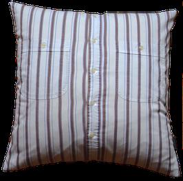 Kissenhülle Auberginen Streifenhemd