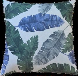 Palmenblätter dunkelgrün/blau 40x40