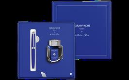 Geschenkset LÉMAN KLEIN BLUE® Füllfederhalter mit Tintenfass - Limitierte Edition