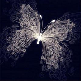 Licht vlinder - D18156