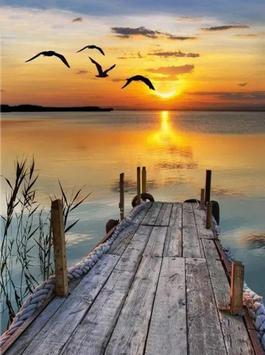 Zonsondergang op het meer - J18178