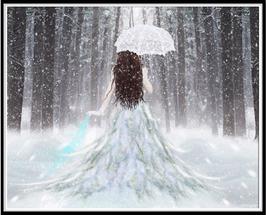 Vrouw met paraplu - R18148