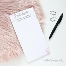 Einkaufszettel Notizblock - DIN lang
