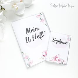 "U-Heft und Impfpass Hülle ""Kirschblüte"""
