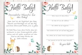 "Baby-Party Spiel ""Hallo Baby"" ""Waldtiere"""