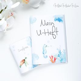"""U-Heft und Impfpass Hülle """"kleine Schildkröte"""""""