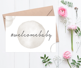 "Karte ""#welcomebaby"""
