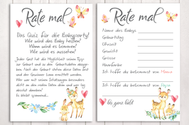 """Baby-Party Spiel """"Rate mal..."""" Waldtiere"""""""