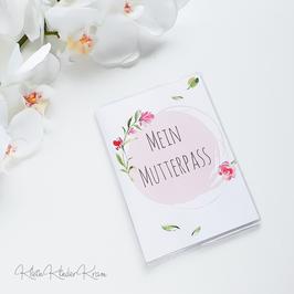 "Mutterpasshülle ""rote Rose"""