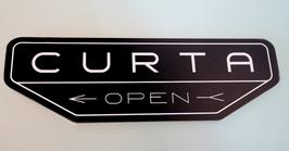 Curta XL-Logo Magnet exakt auf Kontur gefräst - aus hochwertigem Acryl-Glas 3 mm